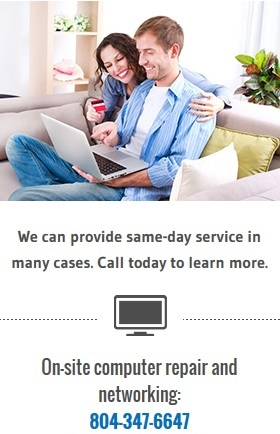 Laptop repair in Richmond Virginia - same day service in most cases