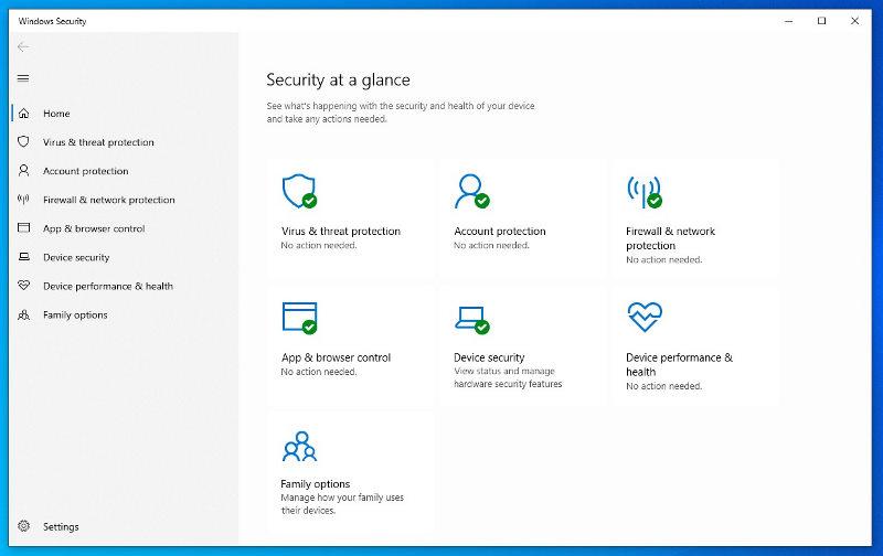 Windows 10 security App
